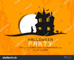 halloween haunted house flyer background poster banner background halloween party night stock vector