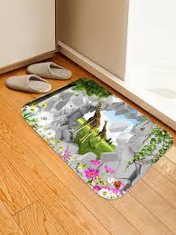 Giraffe Floor L 2018 Giraffe Tree Leaves Print Nonslip Floor Area Rug
