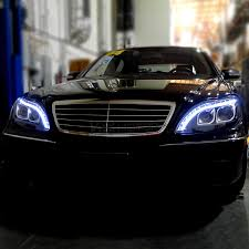 mercedes aftermarket headlights 1998 2006 mercedes w220 s class black led projector headlights