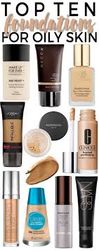 top 10 foundations for oily skin