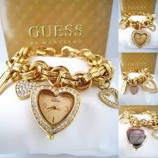 charm bracelet watches images Gold guess bracelet images jpg