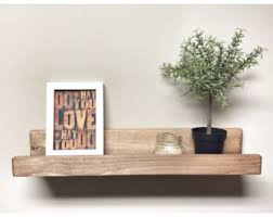 Wood Gallery Shelf by Rustic Farmhouse Home And Wall Wood Decor And By Cherrytreegallery