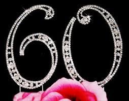 60th anniversary ideas large rhinestone 60th birthday wedding anniversary number