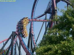 Six Flags Scary Rides Batman The Dark Knight Six Flags New England In Massachusetts