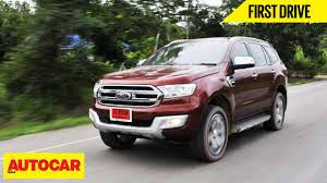 2015 ford endeavour first drive autocar india youtube