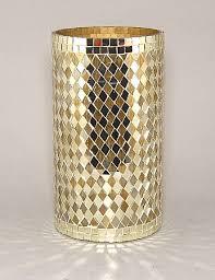 Mosiac Vase Gold Mirror Mosaic Vase 10