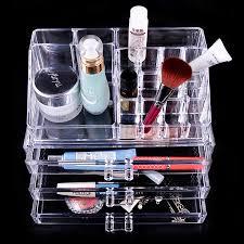 Box Makeup makeup cosmetics transparent 3 drawers storage box makeup