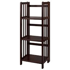 amazon com casual home 3 shelf folding bookcase 14