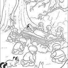 dwarfs coloring pages hellokids