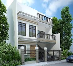 3 storey house modern two level house design exterior with white wall paint part
