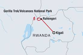 Rwanda World Map by Rwanda Tours U0026 Travel Intrepid Travel Be