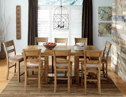 krinden rectangular counter height extendable dining room set from