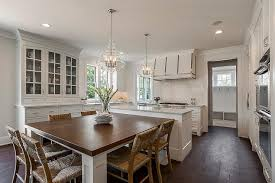 trestle table kitchen island custom built wood top dining table off island transitional kitchen