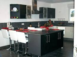cuisine en u avec table ilot de cuisine avec table contemporain choosewell co en u