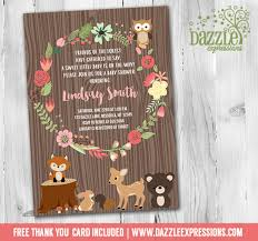 woodland baby shower invitations printable floral wreath woodland baby shower invitation forest