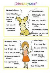 english teaching worksheets self introduction