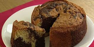 chocolate and vanilla marble cake lifestyle food