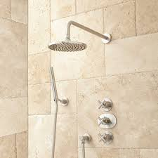 Bathroom Shower Systems Callas Thermostatic Shower System With Rainfall Shower And