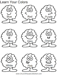 learn your colors preschool kids worksheet