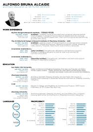 student cv the top architecture résumé cv designs archdaily