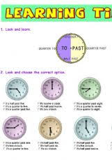 english exercises the time