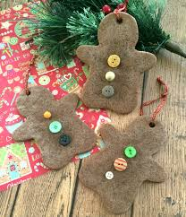 diy christmas ornaments gingerbread scented salt dough ornaments