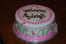 sunshine sweets ladybug cake for a new little lady