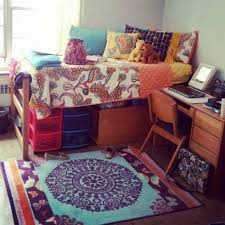 dorm room with colorful bedding decorating ideas for your dorm