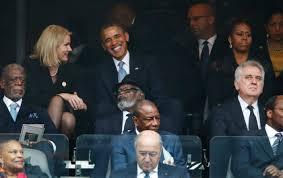 President Barack Obama jokes