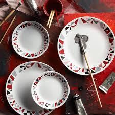 corelle 16 livingware mosaic dinnerware set walmart