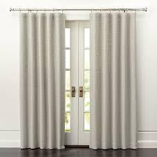 Cream Silk Drapes Desmond Silver Cream Curtain Panels Crate And Barrel
