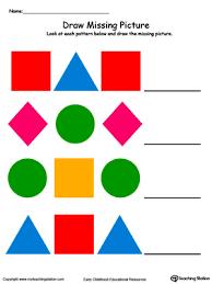 kindergarten patterns printable worksheets myteachingstation com