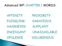 Meaning Of Opulence Vocabulary Chapter 1 Read The Sentences Carefully For Context