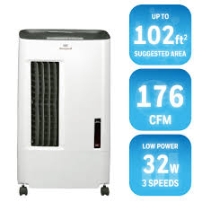 honeywell 176 cfm 3 speed portable evaporative cooler for 102 sq