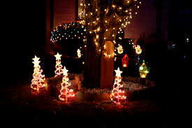 Lighted Christmas Outdoor Decorations by Christmas Trees Pictures Free Photographs Photos Public Domain
