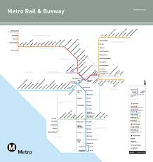 Metro Line Map by Transportation Stadium Express Los Angeles Dodgers