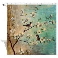 Teal Bird Curtains Shower Curtains Birds Foter