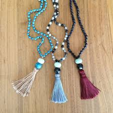 bead necklace with tassel images Mala beads beaded necklace with tassel from emmaruthjewelryco jpg
