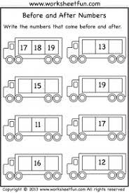 numbers u2013 before after and between free printable worksheets