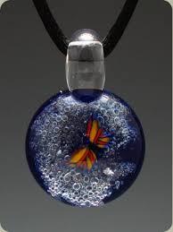 art glass necklace pendant images Handblown art glass cremation jewelry handmade jewlery bags jpg