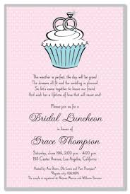 wording for bridal luncheon invitations classic cupcake engagement rings invitation myexpression 15757