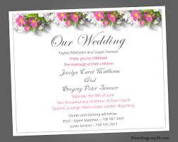 wedding invitations format wedding invitation templates sle wedding invitations