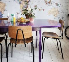 colorful dining table in color
