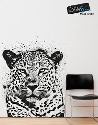 animal decals for walls animal vinyl wall decals vinyl wall decal sticker spray paint leopard os aa652