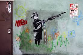 students locals express support for brit street artist banksy the kinross avenue mural by banksy nicknamed the