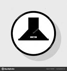 cercle de cuisine hotte d évacuation panneau de ventilation de cuisine vector icône