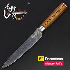 couperet de cuisine haoye 8 pouce damas couperet cuisine couteaux japonais qualité