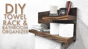 towel rack ideas for bathroom diy towel rack bathroom organizer modern builds ep 51