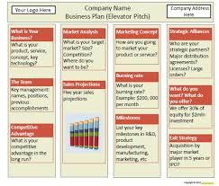 business pitch template one page business plan template 4 free