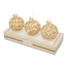 And Gold Glass Ornaments Christopher Radko Ornaments 2015 Radko Clear Glass With Gold